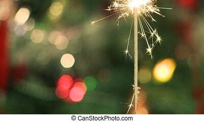 kerstmis, sparkler