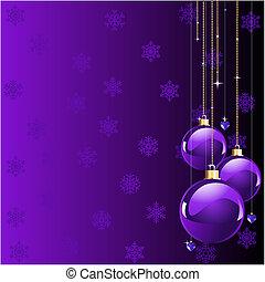 kerstmis, viooltje, kleuren