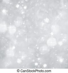 kerstmis., vonkeelt, vector, zilver, achtergrond
