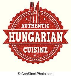 keuken, grunge, hongaars, postzegel, rubber, authentiek