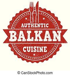 keuken, grunge, postzegel, balkan, rubber, authentiek