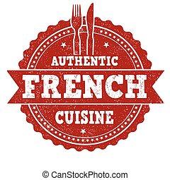 keuken, grunge, postzegel, franse , rubber, authentiek