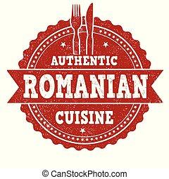 keuken, grunge, postzegel, romanian, rubber, authentiek