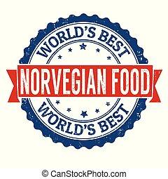 keuken, grunge, voedingsmiddelen, norvegian, rubberstempel