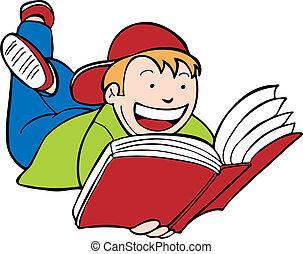 kind lees boek, geitje