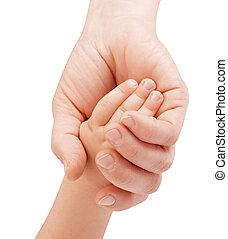 kind, moeder, holdingshand