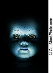 kind, rondspoken, pop, gezicht