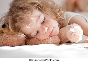 kind, slapende
