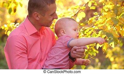 kind, vader, natuur