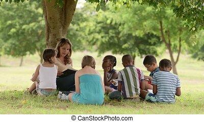 kinderen, opleiding, leraar