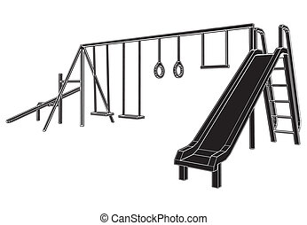 kinderen, speelplaats