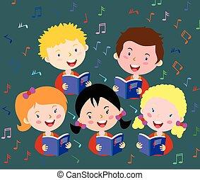 kinderen, zanggroep
