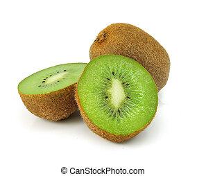 kiwi, fris, witte , fruit, vrijstaand