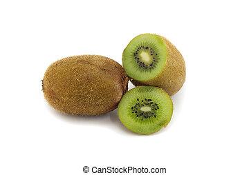 kiwi, vrijstaand, stukken