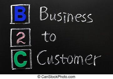 klant, acroniem, -, b2c, zakelijk