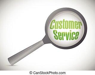 klant, bespreken, concept, dienst, illustratie
