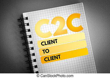 klant, -, c2c, acroniem
