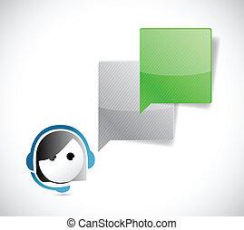 klant, communicatie, vertegenwoordiger, dienst