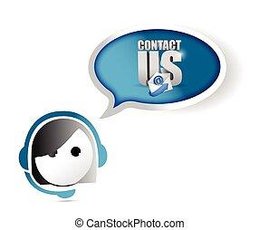 klant, concept, dienst, ons, contact