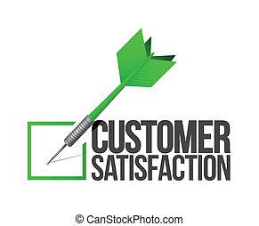 klant, concept, doel, dienst, illustratie, goed