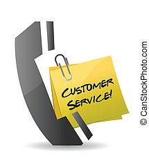 klant, telefoon, concept, dienst