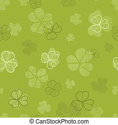 klavertje, model, seamless, textuur, textiel, groene achtergrond