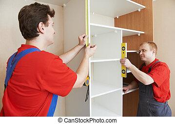 kleerkast, joiners, installatie, werken