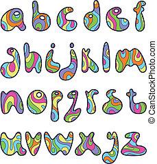 kleine, brieven, psychedelic