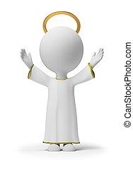 kleine, god, 3d, -, mensen