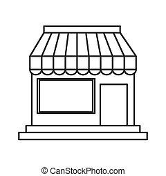 kleine, winkel, pictogram