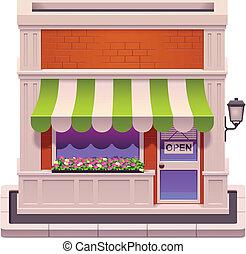kleine, winkel, vector, pictogram