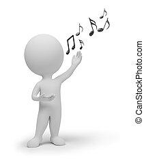 kleine, zinger, 3d, -, mensen