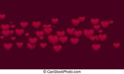 klem, paarse , valentines, st, video, hartjes, dag