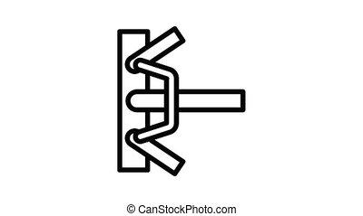 klem, steiger, pictogram, animatie