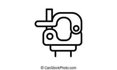 klem, wartel, pictogram, animatie