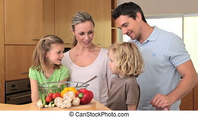 klesten, samen, gezin