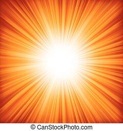 kleur, 8, sinaasappel, burst., -, eps, ontwerp, rood