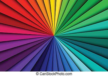 kleur, abstract, lijnen, spectrum, achtergrond