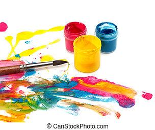 kleur, abstract, pijn, achtergrond