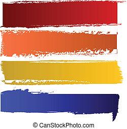 kleur, banieren, vector, set
