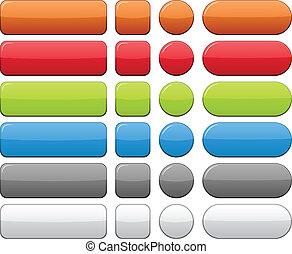 kleur, buttons., leeg