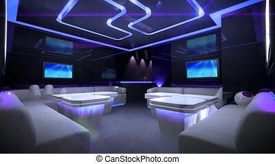 kleur, cyber, club, geleide, kamer