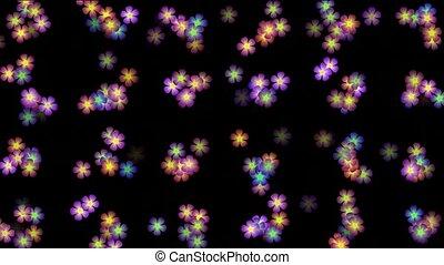 kleur, def, wild, animatie, bloem, achtergrond