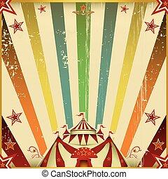 kleur, fantastisch, circus, plein, achtergrond