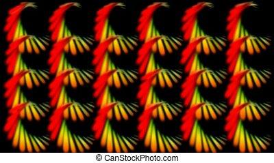 kleur, feathe, spiraal, zoals, model