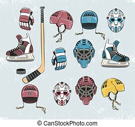 kleur, hockey, tems