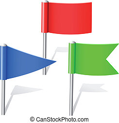 kleur, spelden, vlag