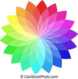 kleur, vector, wheel.