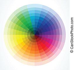 kleur, vector, wheels., illustratie