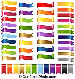 kleur, web, set, linten